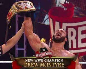 Podczas WrestleManii 36, Drew McIntyre pokonał Brocka Lesnara zdobywając WWE Title. Mistrz wystąpił w podcaście prowadzonym przez Lilian Garcię.